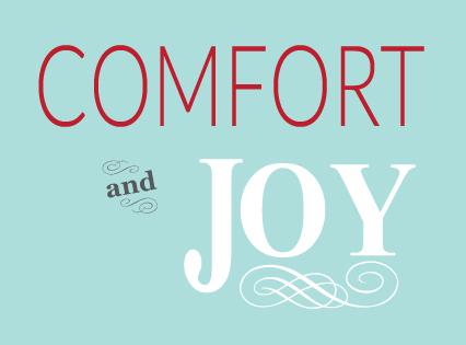 comfort, joy, thepromise365, jamie eslinger