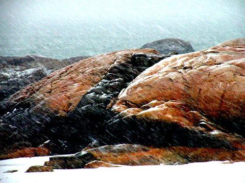 Jamie Eslinger, snow rock