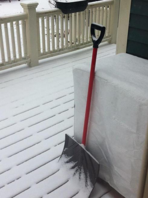snow shovel, jamie eslinger, the promise 365, the promise daily
