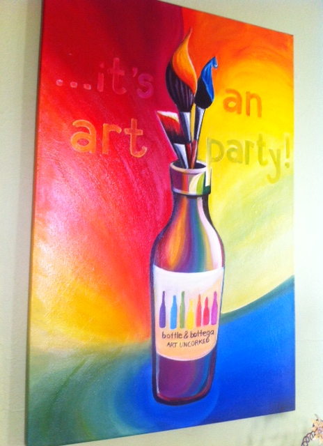 its an art party, bottle and bottega